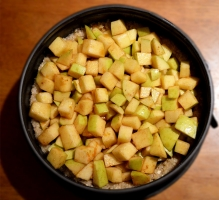 Preparación crumble de manzana