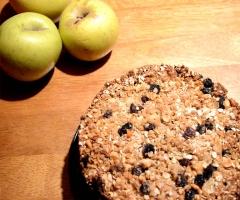 Crumble de manzana receta vegana