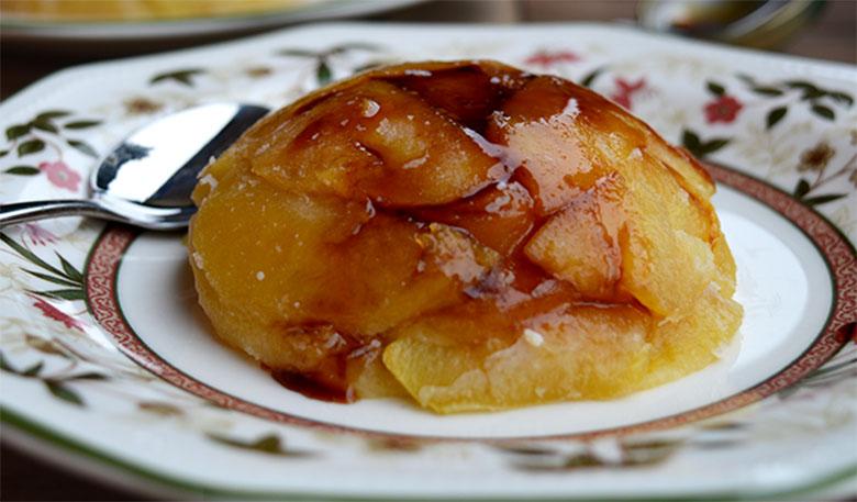 flan de manzana vegano