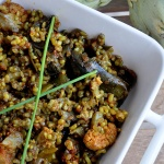 Paella Vegetal con Arroz Integral