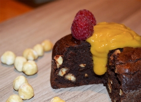 Brownie vegano de Avellanas